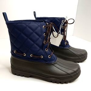 Sperry Size 8 Navy / Brown Gosling Duck Boots